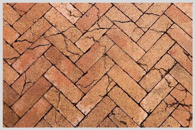 Broken pavers